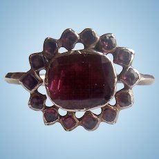 Georgian, Flat Cut Garnet Ring