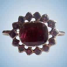 Georgian, Flat Cut Garnet Ring