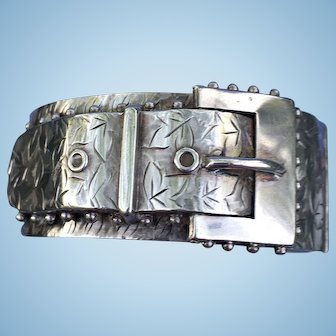 Silver Buckle Bracelet, Victorian