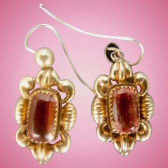 15 cart, Topaz Earrings, Victorian