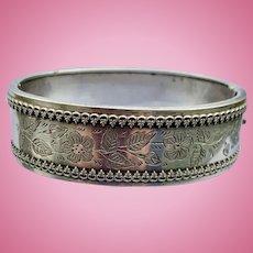 Silver Bangle Bracelet, Victorian