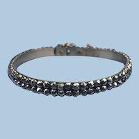 Cut steel Bangle Bracelet, Victorian