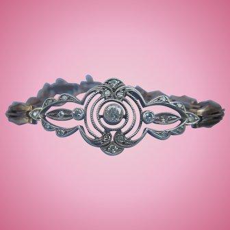 Edwardian Gold and Diamond Bracelet