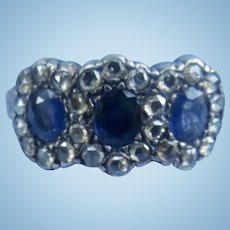 Sapphire and Diamond Ring, Late Victorian