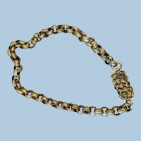 Georgian Bracelet, 14 carat, Barrel Clasp