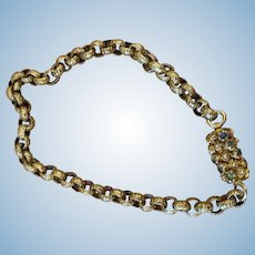 Georgian Bracelet, 14 carat, Barrel Clasp