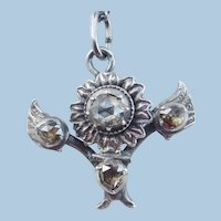 Rose Diamond Pendant and Chain, Georgian