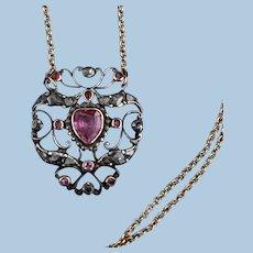 Ruby and Diamond Heart, Georgian