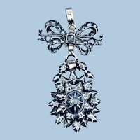 Rose and Table Cut Diamond Pendant, Georgian