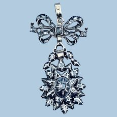 Rose and Table Cut Diamond Pendant, Georgian