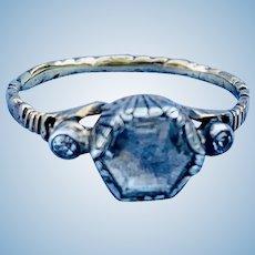 Georgian Rose Cut Diamond Solitaire