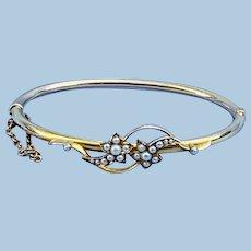 15 carat Gold Comet Bangle Bracelet, Victorian