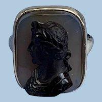 Cameo Ring , Caesar, Victorian