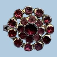 Garnet Cluster Ring, Georgian