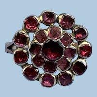 Garnet Cluster Ring, Georgian