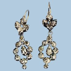 Georgian Rose Cut Diamond Earrings
