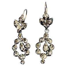 Georgian Rose Cut Diamond Earrings