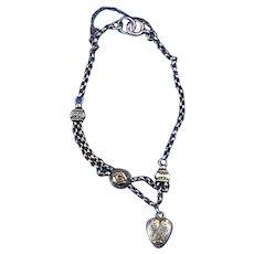 9 Carat Heart Bracelet, Late Victorian