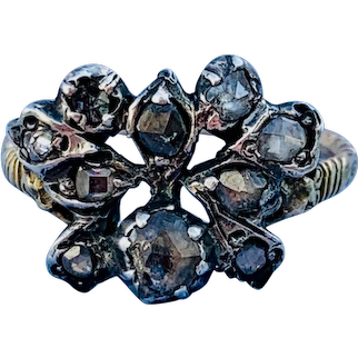 Georgian Rose Cut, Butterfly, diamond ring