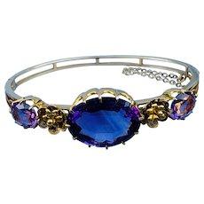 15 Carat Gold Amethyst Bracelet, Victorian