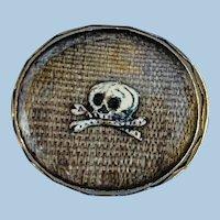 Stuart Crystal Slide With Skull and Crossbones, 1692