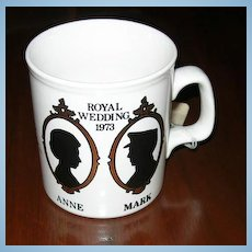 Princess Anne and Mark Phillips Wedding Mug
