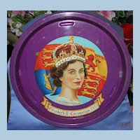 Queen Elizabeth Coronation Tray, 1953