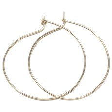 2 Inches 14K Gold Filled Hoop Earring Handmade