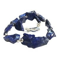 Chunky Royal Blue Lapis Lazuli Necklace