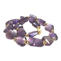 Large Amethyst Chunky Necklace
