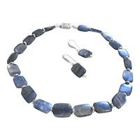 Denim Blue Kyanite Necklace & Earring Set