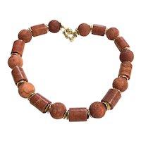 Red Apple Sponge Coral Necklace