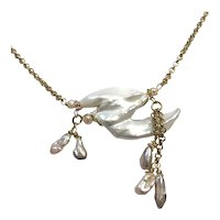 Large Free Form Shape Freshwater Pearl Necklace