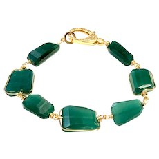 Emerald Green Onyx 98ct Faceted Chunks