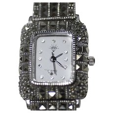 Women's Sterling and Marcasite Watch