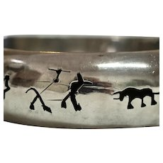 Silver Mexican Bullfight Bangle
