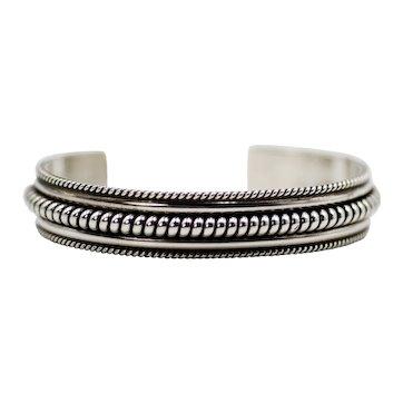 Sterling Silver Tahe Cuff Bracelet