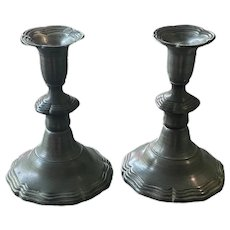 Vintage Pewter Candlestick Holders by Colonial Casting Company