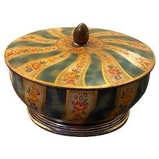 Vintage Decorative Biscuit Jar, Decorative metalware by Daher, Daher England 1971