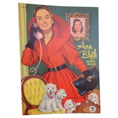 Vintage Ann Blyth Paper Dolls      UNCUT        Merrill Pub. 1952        3 Paper Dolls