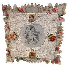 Vintage Valentine Dated 1907  Lace and Scalloped Edges