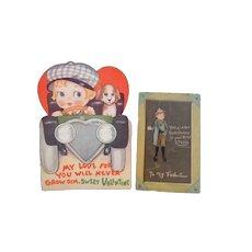 Raphael Tuck Valentine Postcard 1902  Postcard Undivided Back Unposted Two Vintage Valentines in Lot