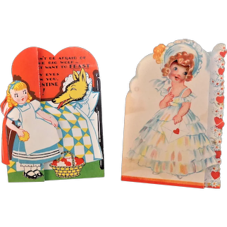Vintage Valentines Two in Lot  Valentines Have Movable Parts