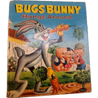"Vintage Child Book  1957  ""Bugs Bunny Hangs Around""  1957  Whitman Publishing Company  Tell-a-Tales Series"