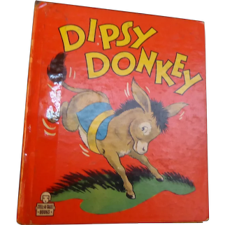 "Vintage Child Book  1948  ""Dipsy Donkey""  Whitman Publishing Company  Tell-a-Tales Series"