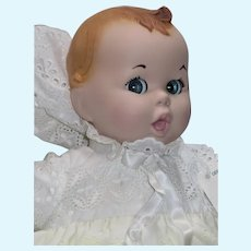 """14"""" Vintage Gerber Baby Doll, Eyelet Lace Christening Gown"""