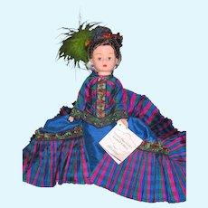 "10"" Madame Alexander Cissette French Blue Godey"