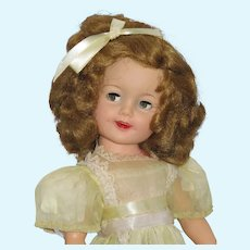 "Vintage 19"" Ideal Shirley Temple Doll, Flirty-Eye"