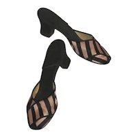 Pair Peep Toe Lounge or Bedroom Slippers 6 1/2 M