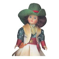 Vintage Virga Doll Cowgirl, Made Beehler Arts, NY